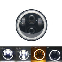 "5.75"" Motorcycle Projector LED Headlight DRL Halo angel eyes for Dyna Sportster"