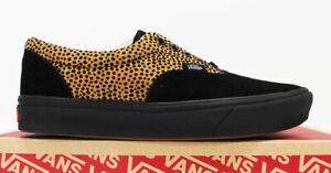 NIB VANS Men's Comfycush Era Cheetah Black Suede Low Top Sneakers Tennis Shoes