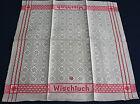 Altes sehr schönes handgewebtes Leinen Tuch * Wischtuch * unbenutzt * LD in Rot*