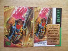 1995 FLEER MARVEL MASTERPIECES X-MEN BISHOP CARD SIGNED DAVE DEVRIES ARTWORK