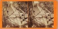 Germania Berchtesgaden Cascade Foto Stereo Baldi Vintage Albumina