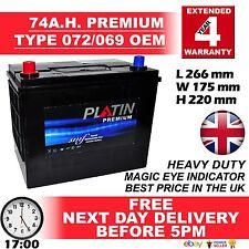 072 / 069 12V Heavy Duty Car Battery fits many TOYOTA LUCIDA ESTIMA EMINA DIESEL