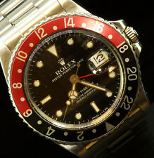 Rolex Mens GMT Stainless Steel Oyster Perpetual 16750