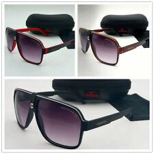 Men & Women's Retro Sunglasses Unisex Matte Frame Carrera Glasses + Box AC26