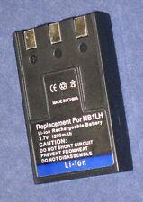 Batería 1200mAh tipo ER-D100 NB-1L NB-1LH Para Canon IXY Digital 320