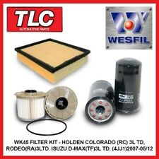 WK45A Air Oil Fuel Filter Kit Isuzu D-Max D Max DMax 4JJ1 Turbo Diesel 07-05/12
