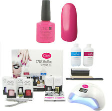 CND Shellac HOT POP PINK nail Starter Kit-elegante UNGHIE 36w UV lamp incluse