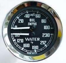 Smiths Oil Pressure & Water Temperature Gauge for MGB Sprite Midget. BHA4737