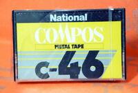 National Compos C 46 Japan 1978 Metal Cassette Tape SEALED JP Market