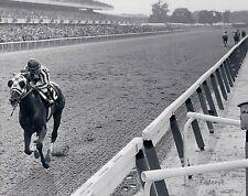 LOT of (2) TWO SECRETARIAT Belmont Stakes HORSE Race  PHOTOS 8 x 10