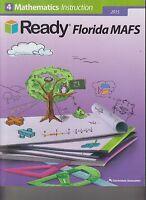 Ready Florida MAFS 2015 Gr 4 Mathematics Instruction Workbook NEW (E1-15)