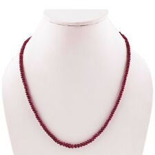 Beaded Charm Gemstone Necklace Ruby Necklace,Natural Synthetic Dyed Ruby