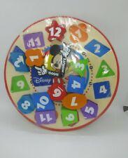 Disney Melissa & Doug Wooden Sorting Clock Movable Clock Hands NEW 3+Educational