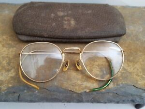 Art Deco 1/10 12K GF Bifocal Ful-Vue  Eyeglasses with Case Vintage