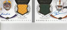RUEBEN RANDLE TRAVIS BENJAMIN BOOK RELIC AUTOGRAPH #/50 2012 EXQUISITE COLL
