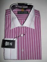 Men's Long Sleeve Dress Striped Shirt, Assorted Colors and Sizes