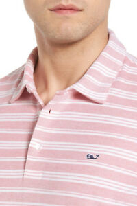 VINEYARD VINES PIQUE POLO Golf Shirt JETTY RED Pink size M or L NWT ($79.50)