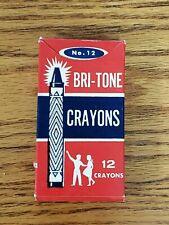 Vintage Bri-Tone crayons, 12 crayons, Made by Imperial Crayon Co