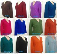 Women's Cashmere Cardigan Sweater 100% Pashmina Ladies Sweater Winter Jumper M L