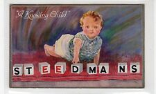 """""""A Knowing Child"""": Advertising postcard for Steedmans (C25914)"""