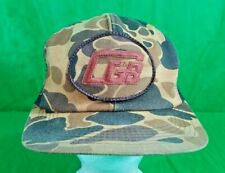 Vtg CGB Camo Hat Patch K-PRODUCTS Usa Made Grain Barge Seed Snapback Cap