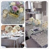 New Glitter Sequin Rectangle Tablecloth Cover Rose Wedding Banquet Party