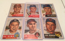 1953 Topps Lot Wilhelm/Pierce Poor to EX (6 cards)
