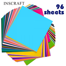 Permanent Self Adhesive Vinyl Sheets Lot Sheet 12x12 For Cricut Silhouette Cameo