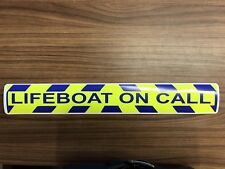 Magnetic sign Lifeboat On Call Blue chevron design Background & text vehicle
