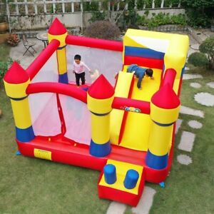 YARD Large Inflatable Bouncer Trampoline With Obstacle Slide 4*3.8*2.5M Outdoors