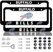 New Listingbuffalo Bills 2pcs Metal Chrome License Plate Frame Set Auto Truck Car Tag Cover