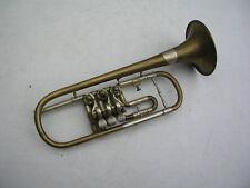 schöne goldene Trompete - Flügelhorn - Kornett Meinel und Herold