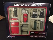 Rare 1/18 Die Cast Car Garage tools and equipment set compressor charger jack