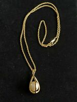 Vi Tage Avon Gold Tone Large Faux Pearl Cage Pendant Necklace