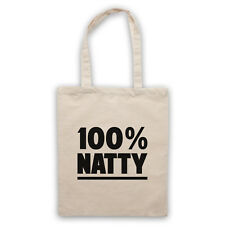 100% NATTY GYM SLOGAN BODYBUILDING WORKOUT MUSCLES SHOULDER TOTE SHOP BAG