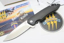 ATTLEBORO USA BERLIN STRIKE D2 BLADE FOLDING POCKET KNIFE TITANIUM FRAMELOCK