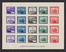 ESPAÑA 1938 Hom. Ejer. y Marina (SIN DENTAR) Edifil 850 Sin fij .MNH Cat 240€