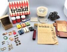 Vintage Trinket Copper Enameling Kiln w/ Original Powders Misc. Parts & Jewelry