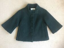 MILLY New York Original Forest Green Button Up Jacket Coat Size 2