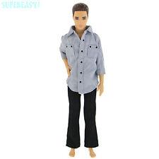 Jacket Coat Trousers Pants Plain Outfit Clothes Accessories For Barbie Ken Doll