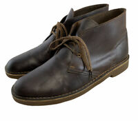 Clarks 15522 Bushacre 2 Chukka Boot Beeswax Leather Coffee Brown size Us 11 M