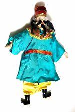 Ancienne marionnette chinoise Asie asiatique homme notable moustache céramique