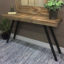 PARQUETRY CONSOLE TABLE HALLWAY SIDE DESK STAND TIMBER FURNITURE