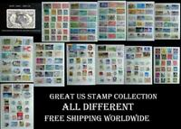 Just A Great & All Different US Stamp Collection, Free Shipping Worldwide
