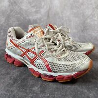 ASICS Gel Cumulus 15 White Orange Red Trainers Size US 9 UK 7 Running Shoes