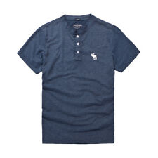 Simple Embroidery Short Sleeve Polo Shirts - Blue