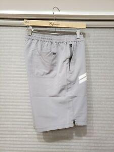 Hurley Men's Exist Poly/Spandex Lightweight Sport Shorts Grey Size XL