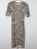 [ WITCHERY ] Womens Animal Print Ponte Dress | Size AU 6 or US 2