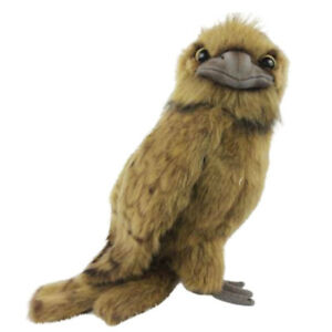 Tawny Frogmouth Owl Hansa Realistic Animal Soft Plush Toy 20cm H **FREE DELIVERY