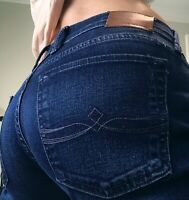 Lucky Sweet n Straight Stretch Mid Rise Womens denim blue jeans size  6 28 x 31